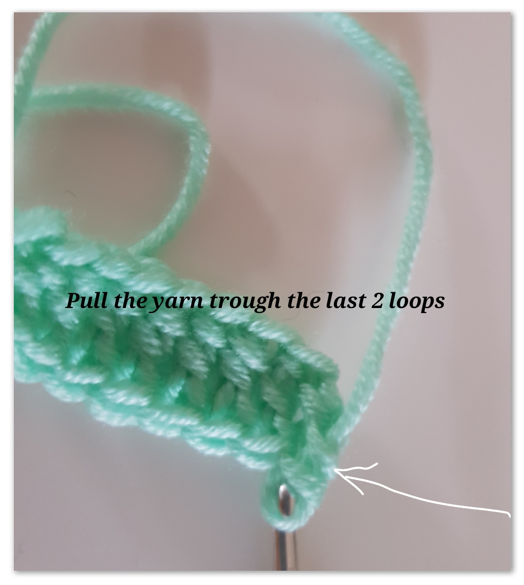 foundation double crochet step 9