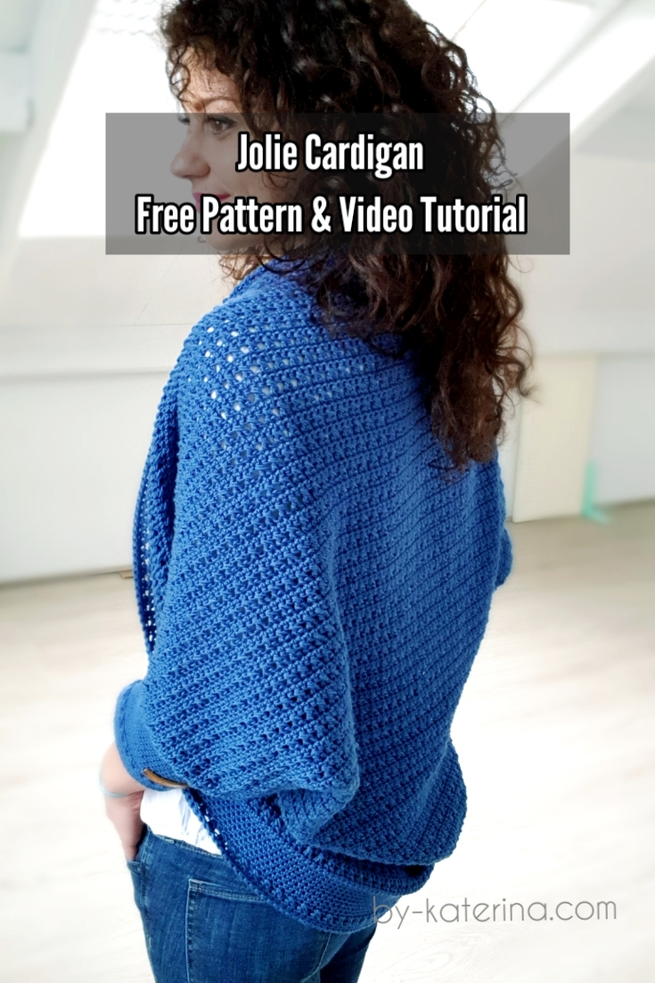 Jolie Cardigan. Free Crochet Pattern & Video Tutorial
