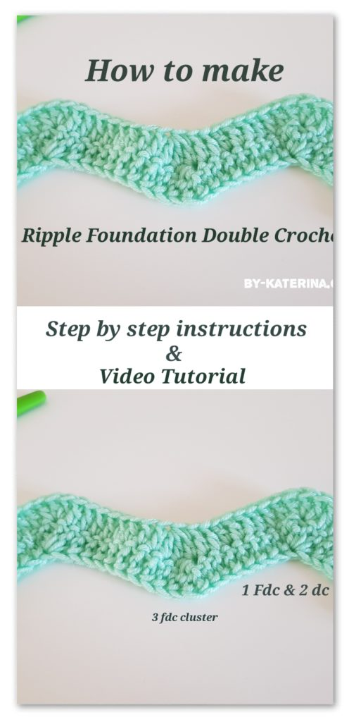 ripple foundation double crochet