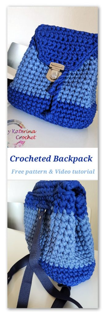Crocheted backpack - Free Pattern & Video tutorial