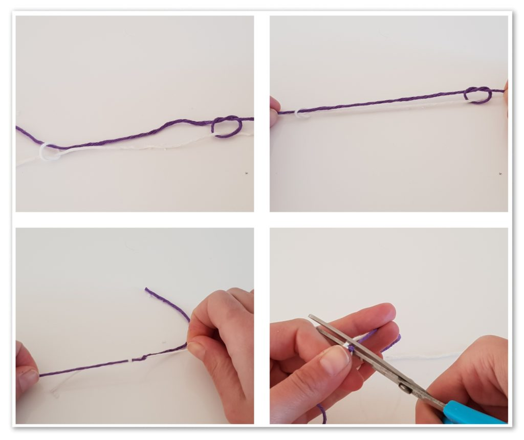 how to join yarn magic knot