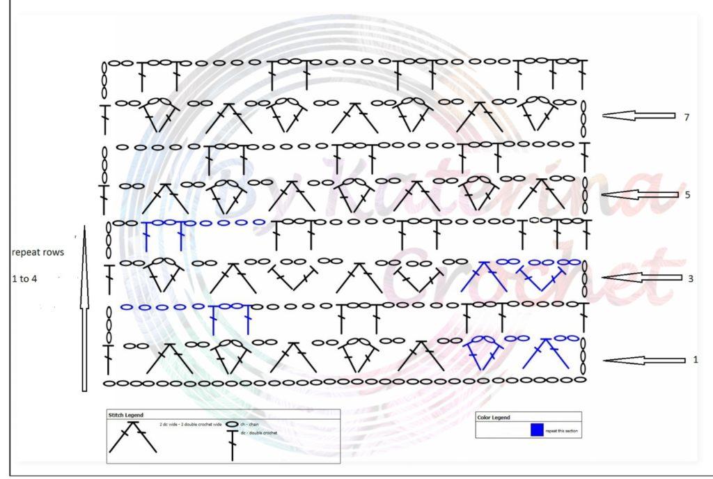 stitch with circles chart