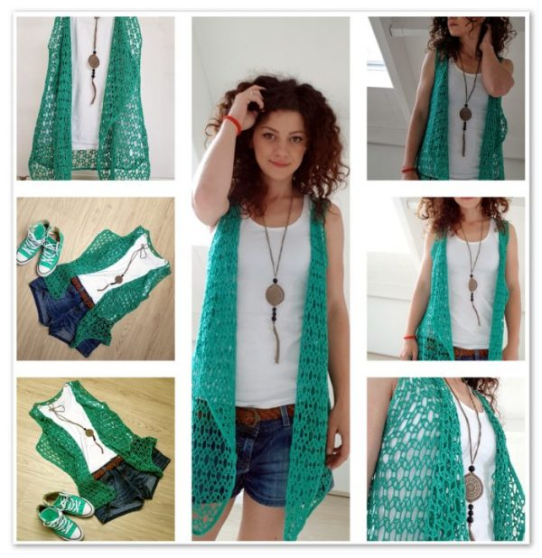summer crocheted vest