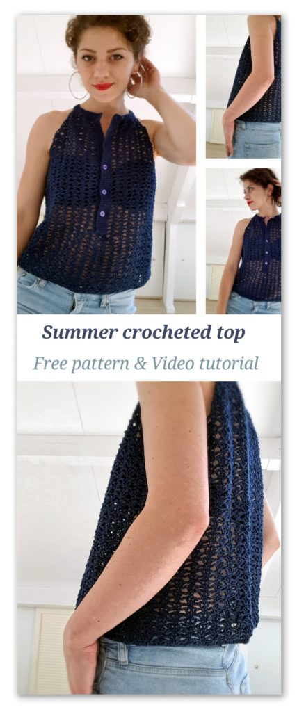 Summer crocheted top. Free Pattern & Video Tutorial