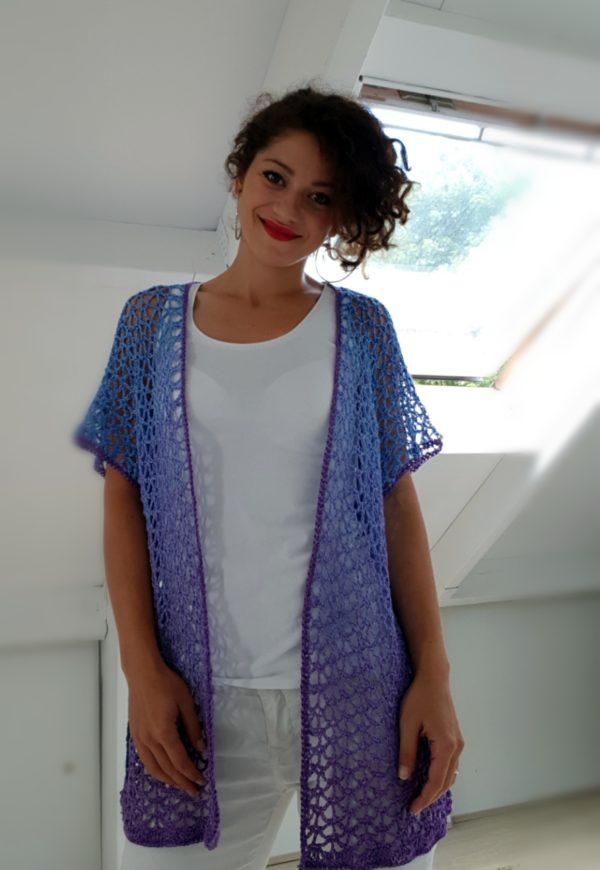 Purple Love Lace Cardigan