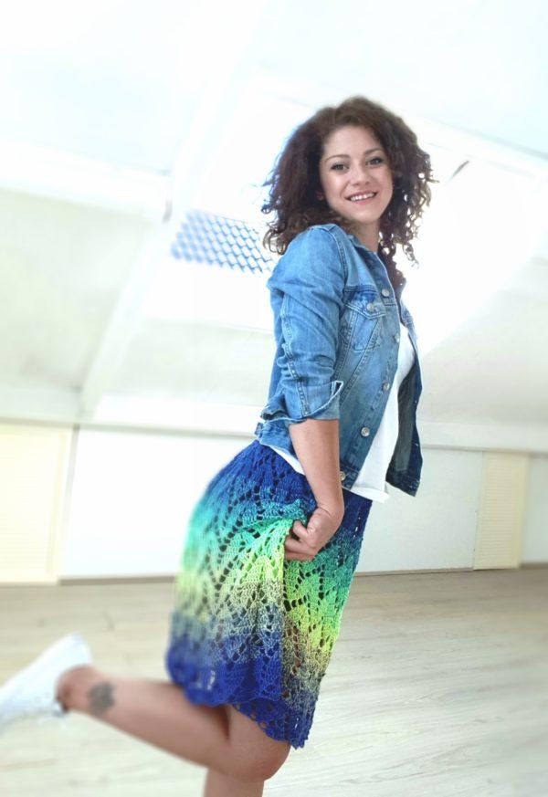 Top- skirt. One piece, 3 ways to wear it