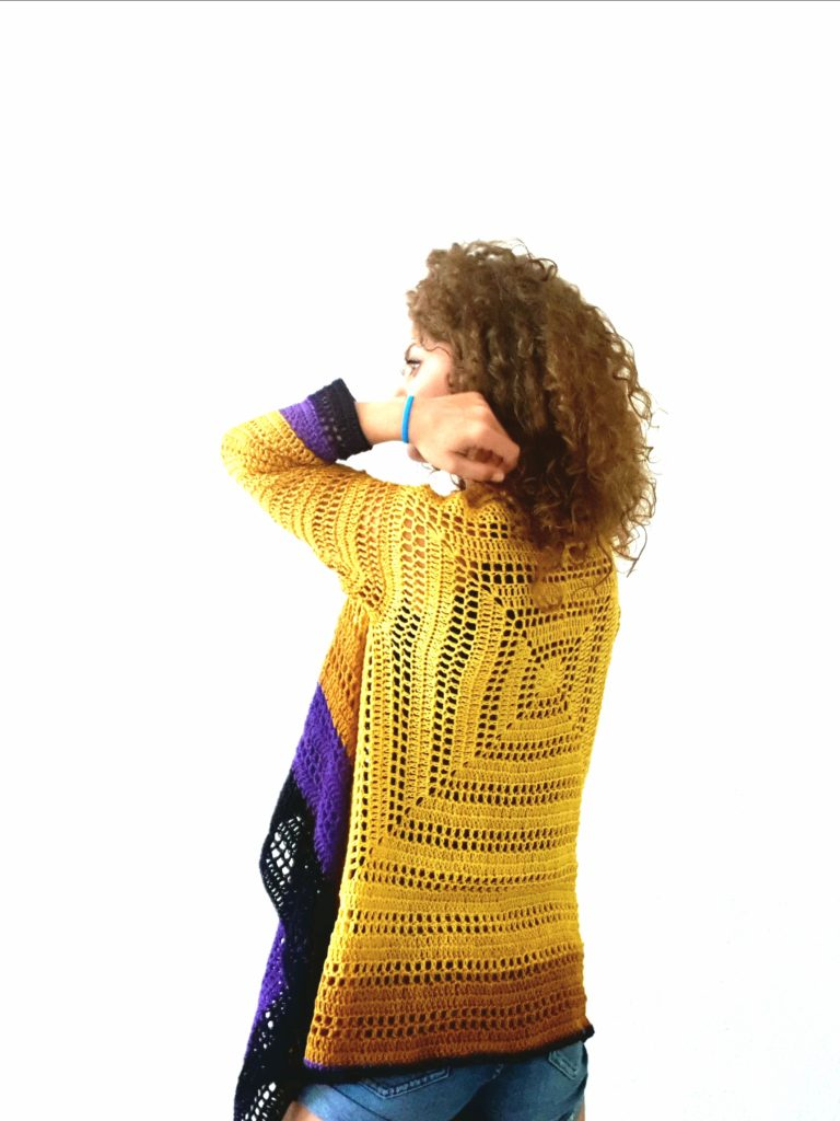 Sunny Cardi. Free Pattern, Charts and video tutorial