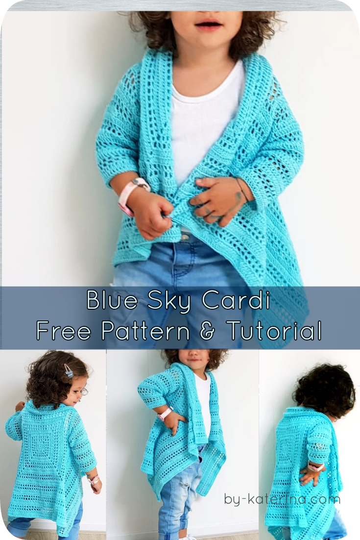 Blue Sky Cardi. Free Pattern & Tutorial with chart and diagram