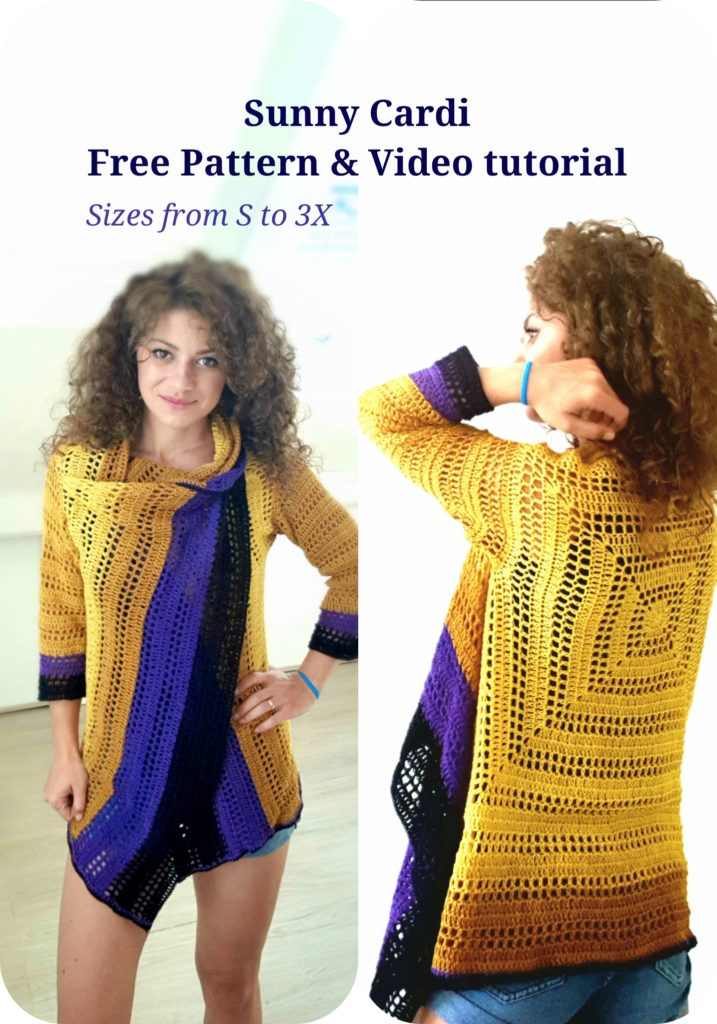 Sunny Cardi. Free Pattern, Video Tutorial & charts