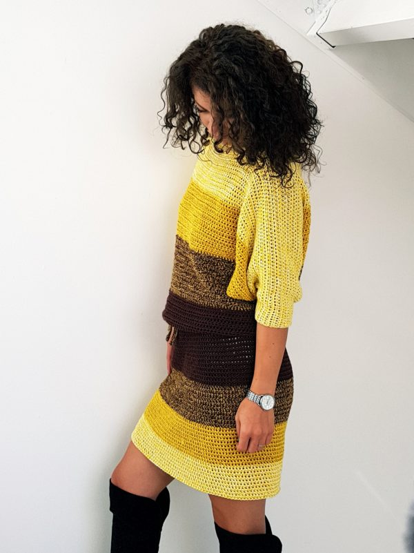 Fall Colors Dress. Free Pattern & Tutorial