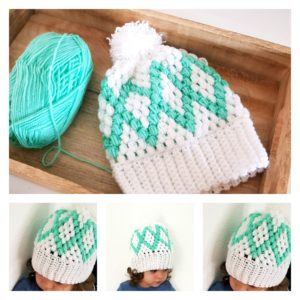 Diamonds Puff Beanie