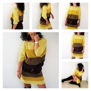 Fall Colors Dress. Free Pattern and Tutorial