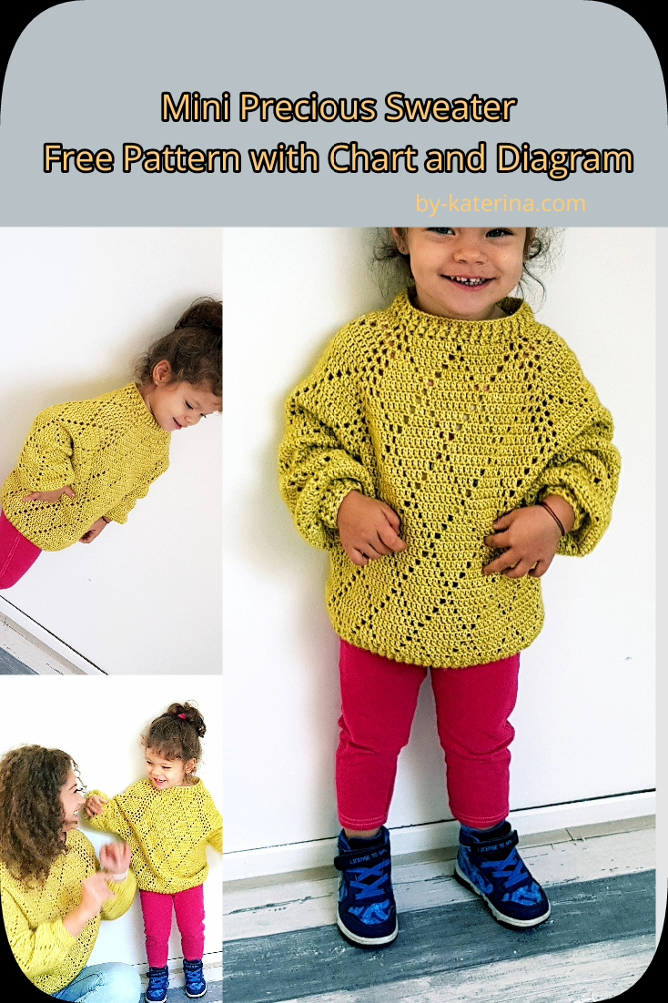 Mini Precious Sweater. Free Pattern with Chart and diagram