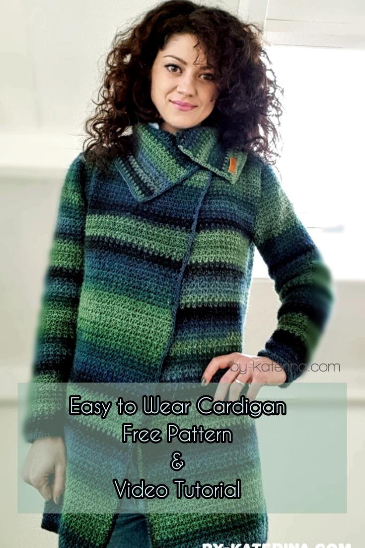 Easy To Wear Cardigan. Free Pattern & Video Tutorial
