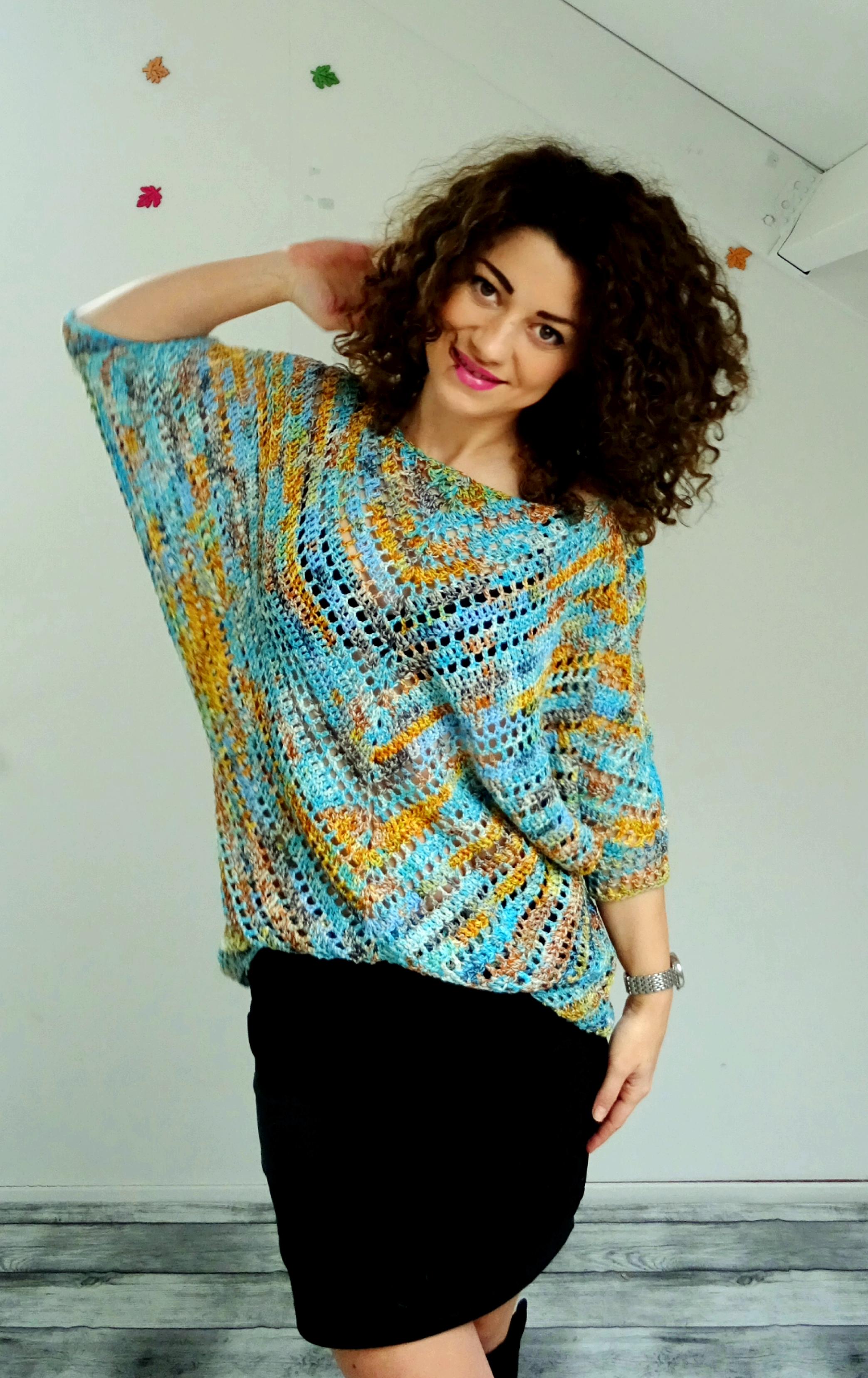 Starry night blouse
