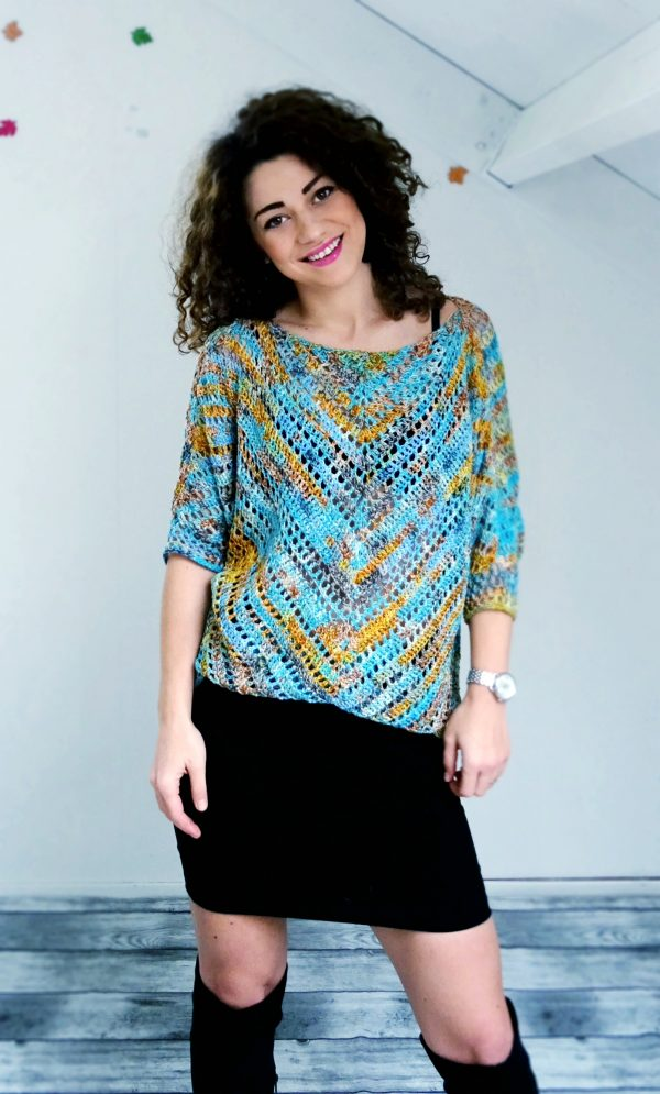 Starry night blouse