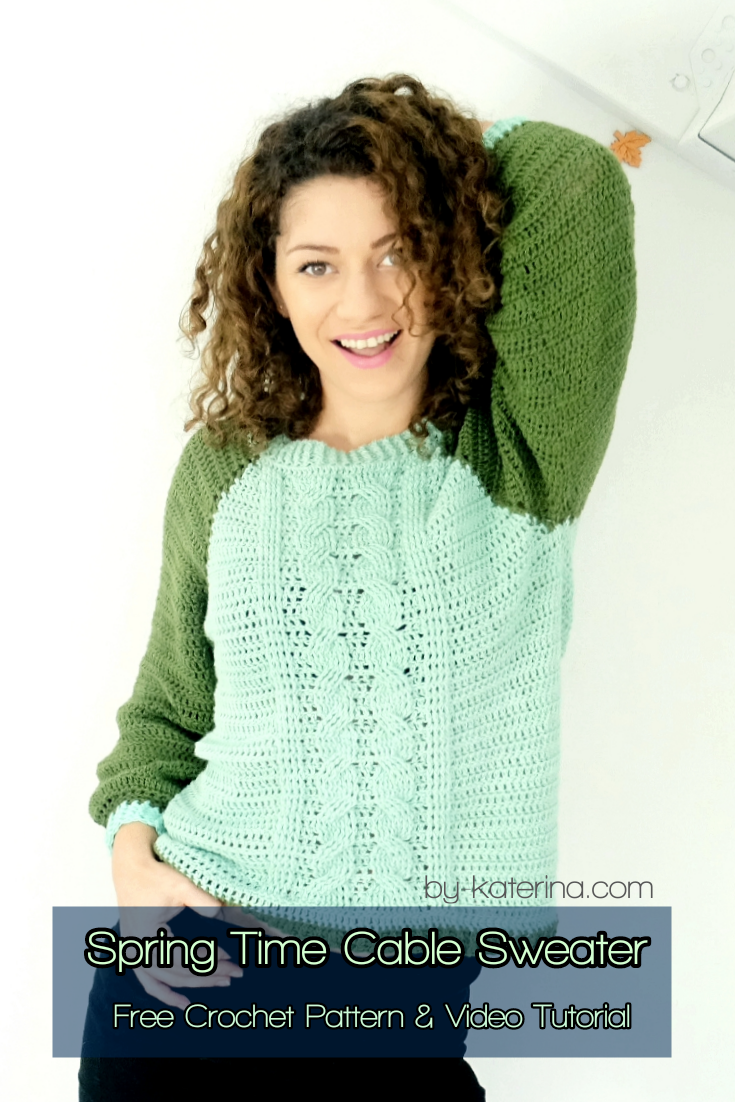 Spring Time Cable Sweater. Free Pattern & Video Tutorial