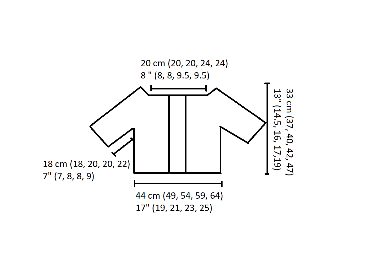 spring buds cropped cardigan diagram