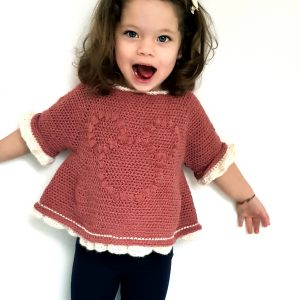 Minnie Bobble Blouse. Free Crochet Pattern