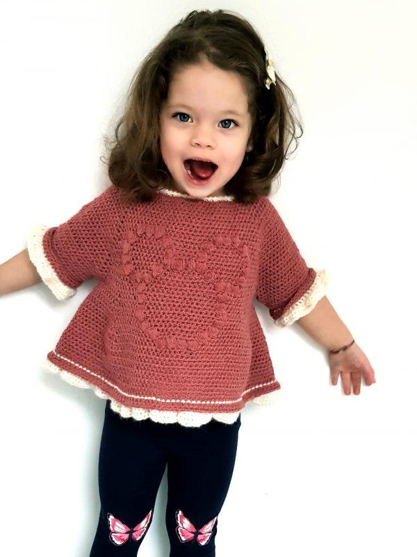 Minnie Bobble Blouse. Free Crochet Pattern