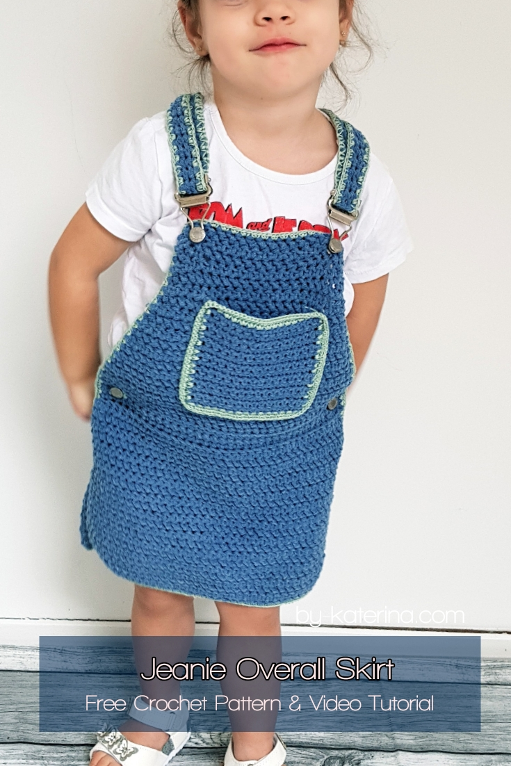 Jeanie Overall Skirt. Free Pattern & Video Tutorial