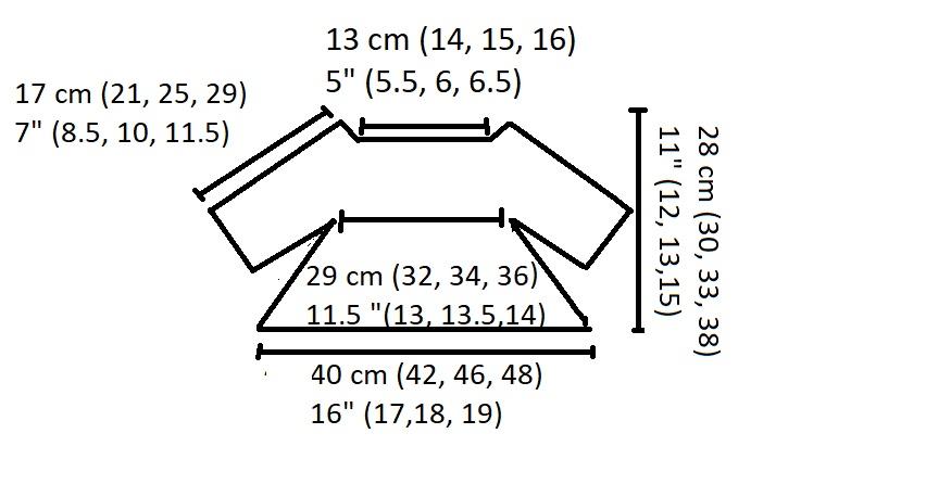 Minnie Bobble Blouse diagram