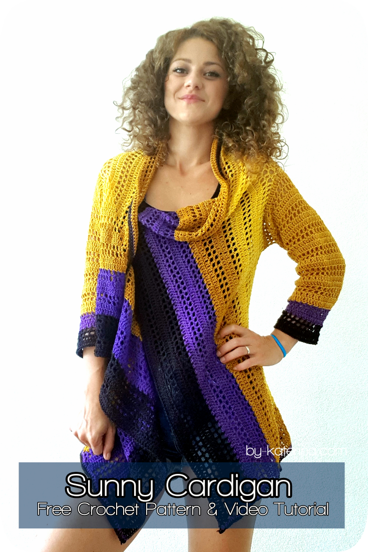 Sunny Cardigan. Free Pattern & Video Tutorial