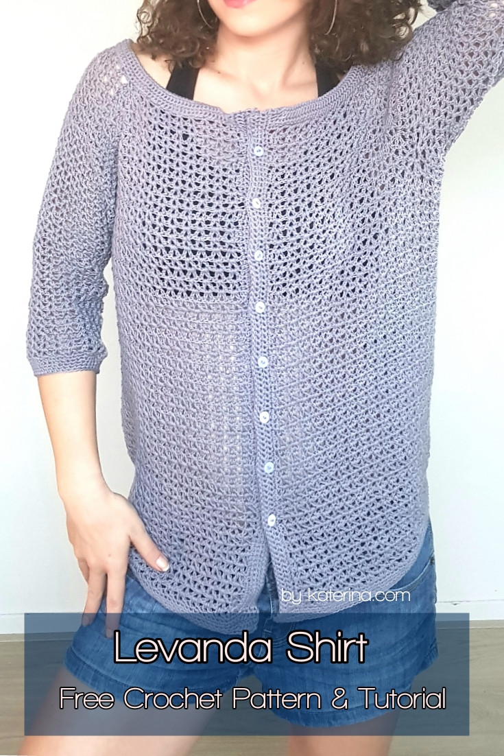Levanda Shirt. Free Crochet Pattern & Tutorial