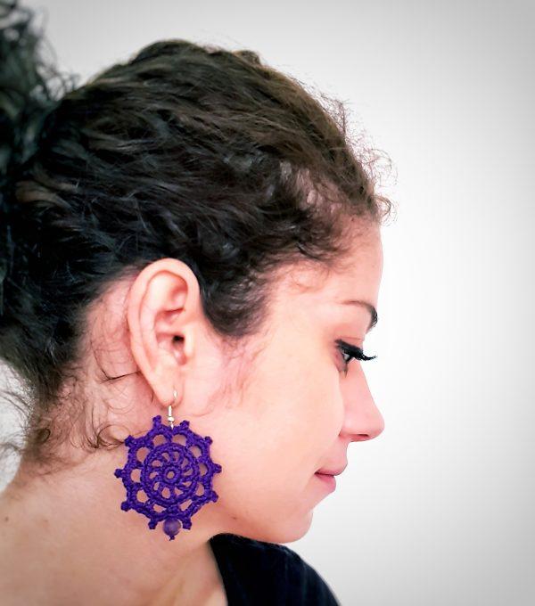 sailor wheel earrings