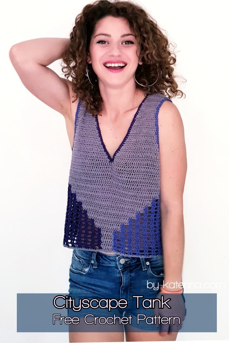Cityscape Tank. Free Crochet Pattern