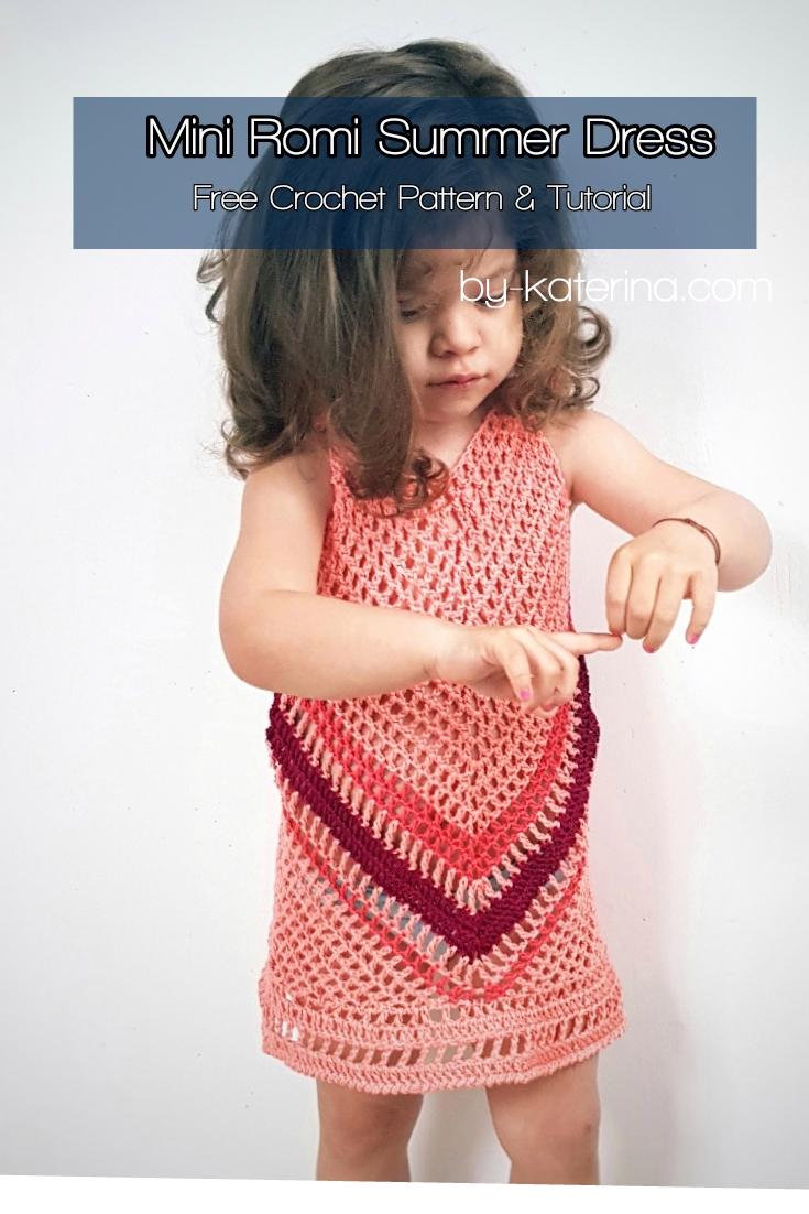 Mini Romi Summer Dress. Free Crochet Pattern & Tutorial