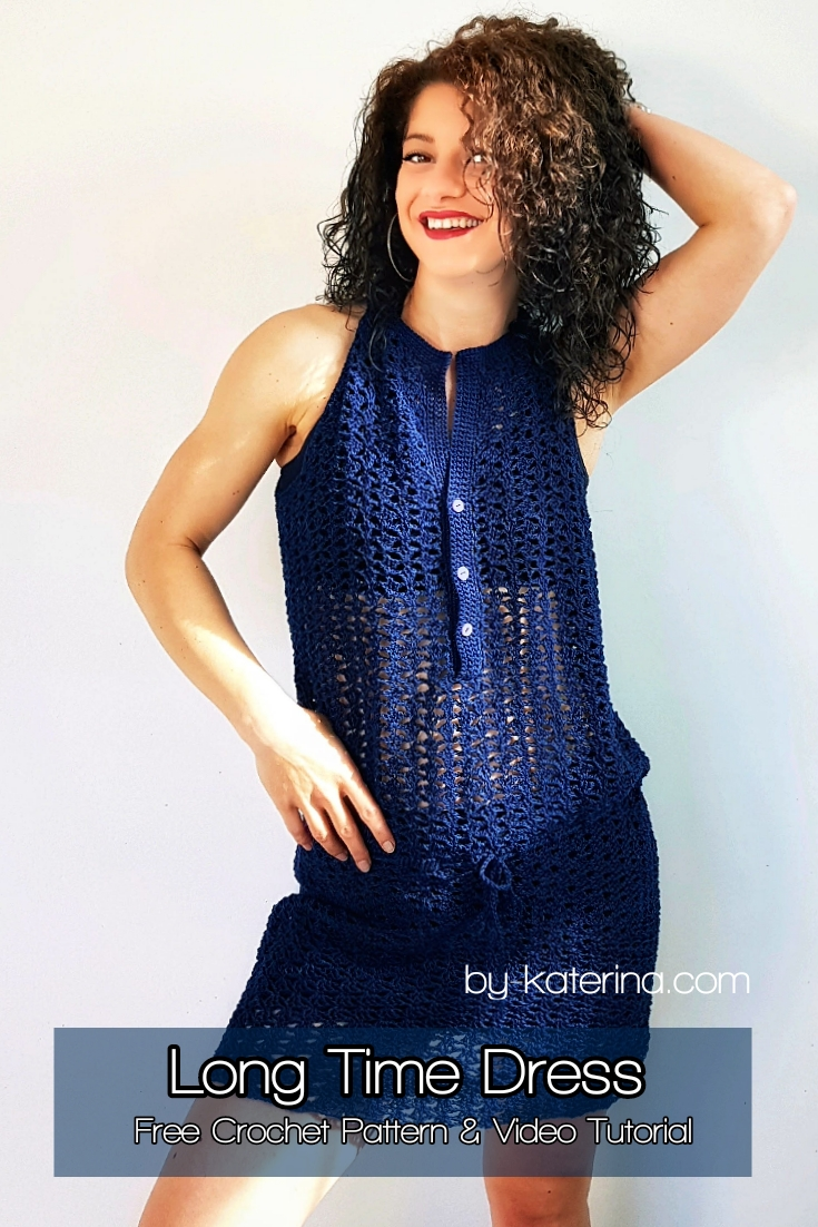 Long Time Dress. Free Crochet Pattern & Video Tutorial