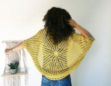 Bring Me the Sun Shrug. Free Crochet Pattern & Video Tutorial