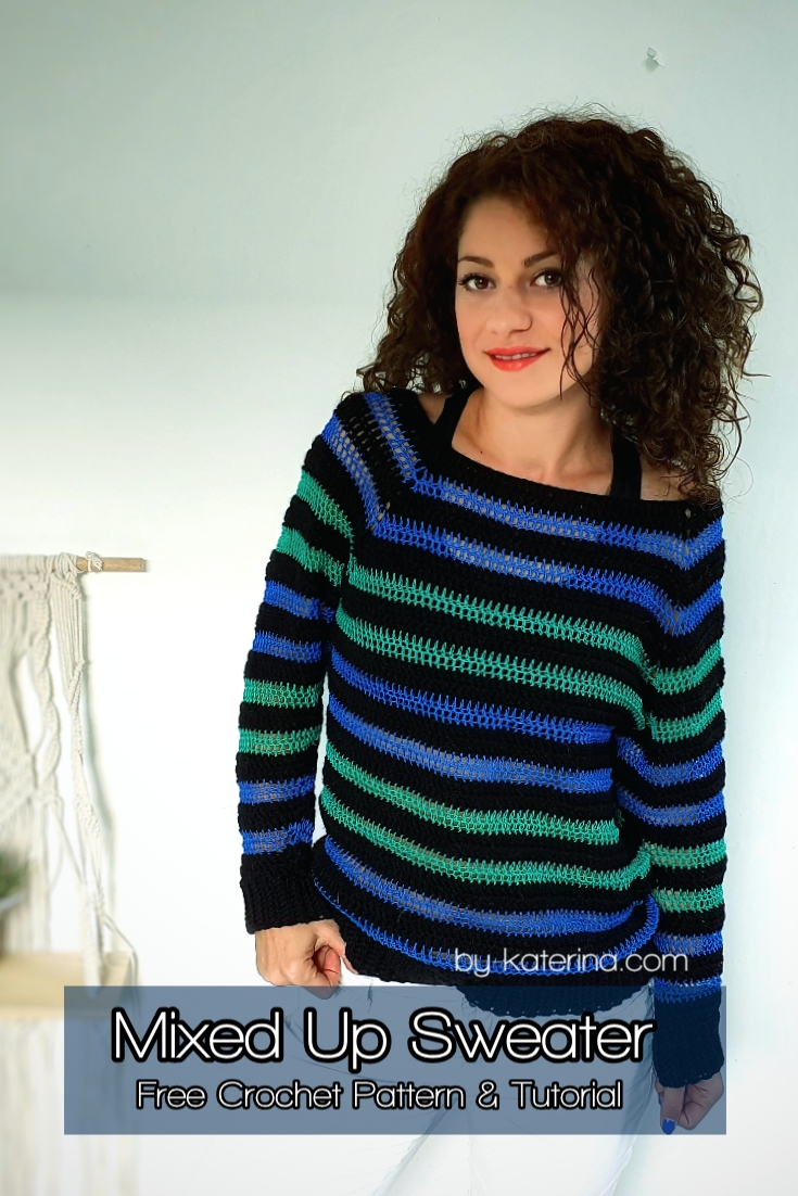 Mixed Up Sweater. Free Pattern & Tutorial