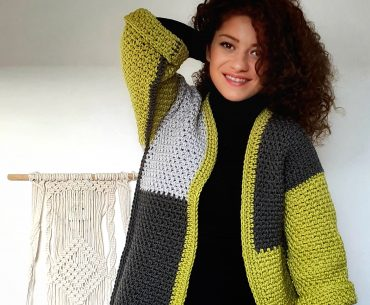 Pistachio Amid Rocks Jacket. Crochet Pattern