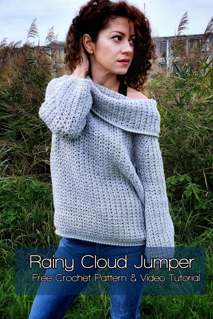 Rainy Cloud Jumper. Free Crochet Pattern & Video Titorial