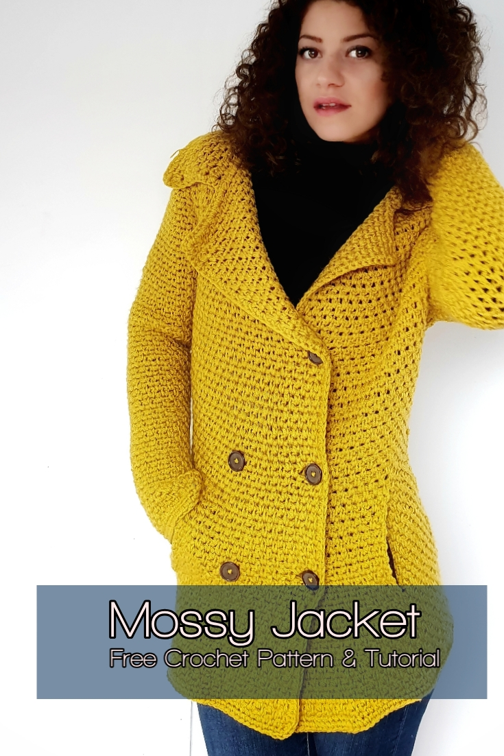 Mossy Jacket. Free Crochet Pattern and Tutorial