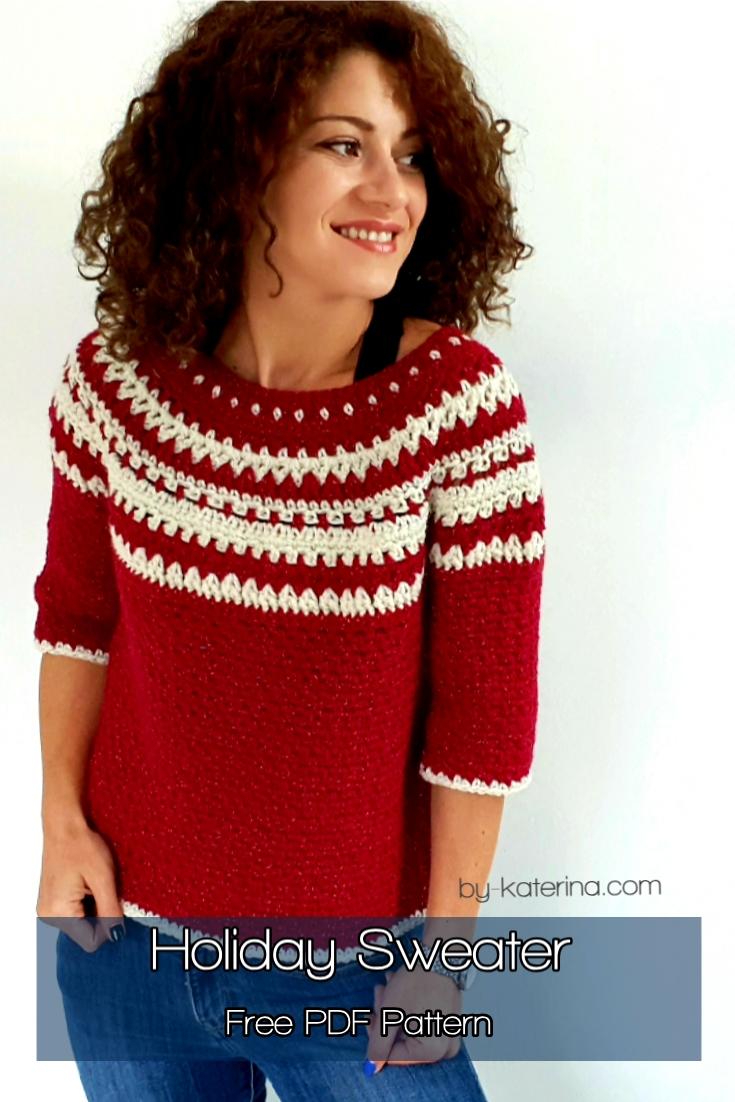 Holiday Sweater. Free PDF