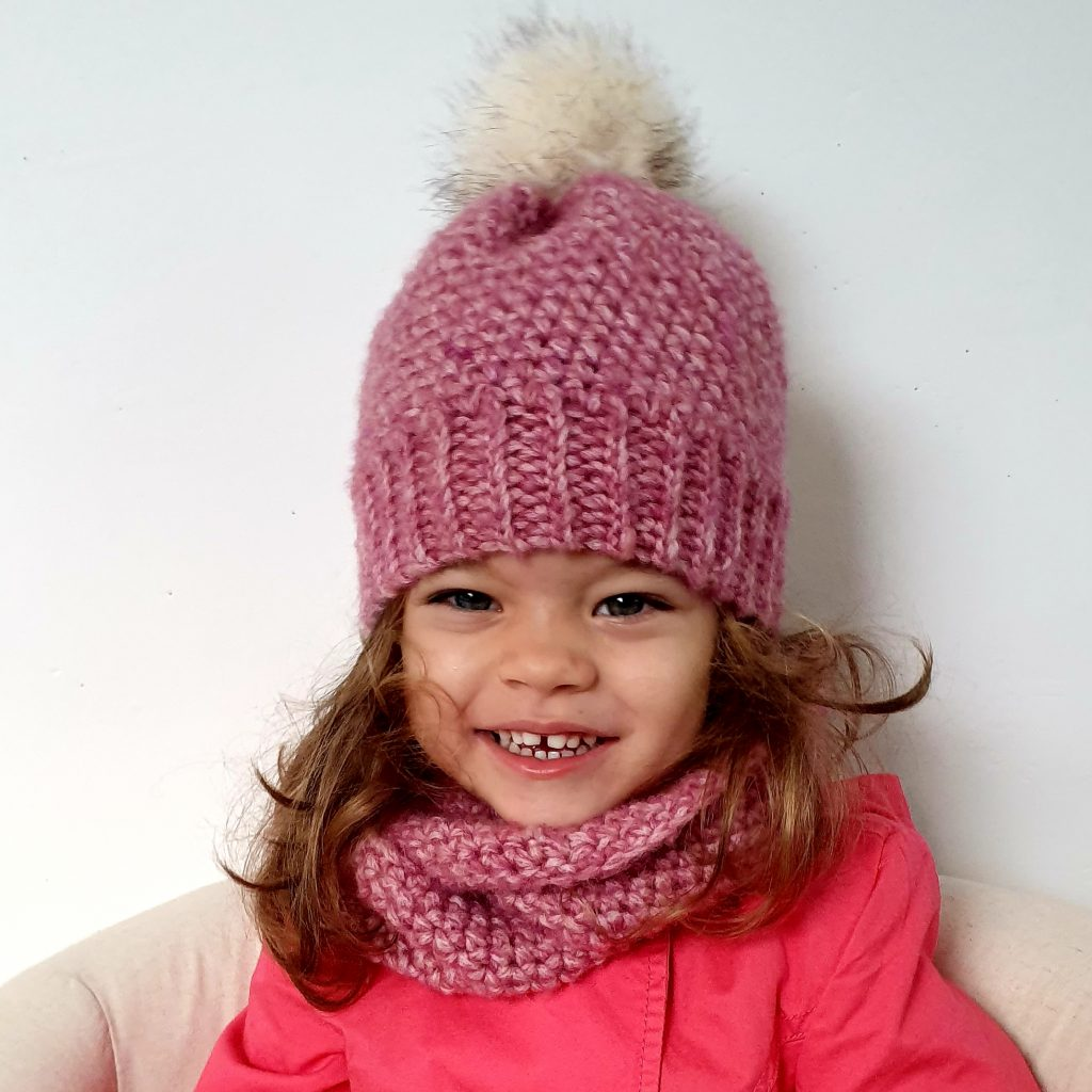 Winter Set. Crochet Pattern. With Beanie & Cowl
