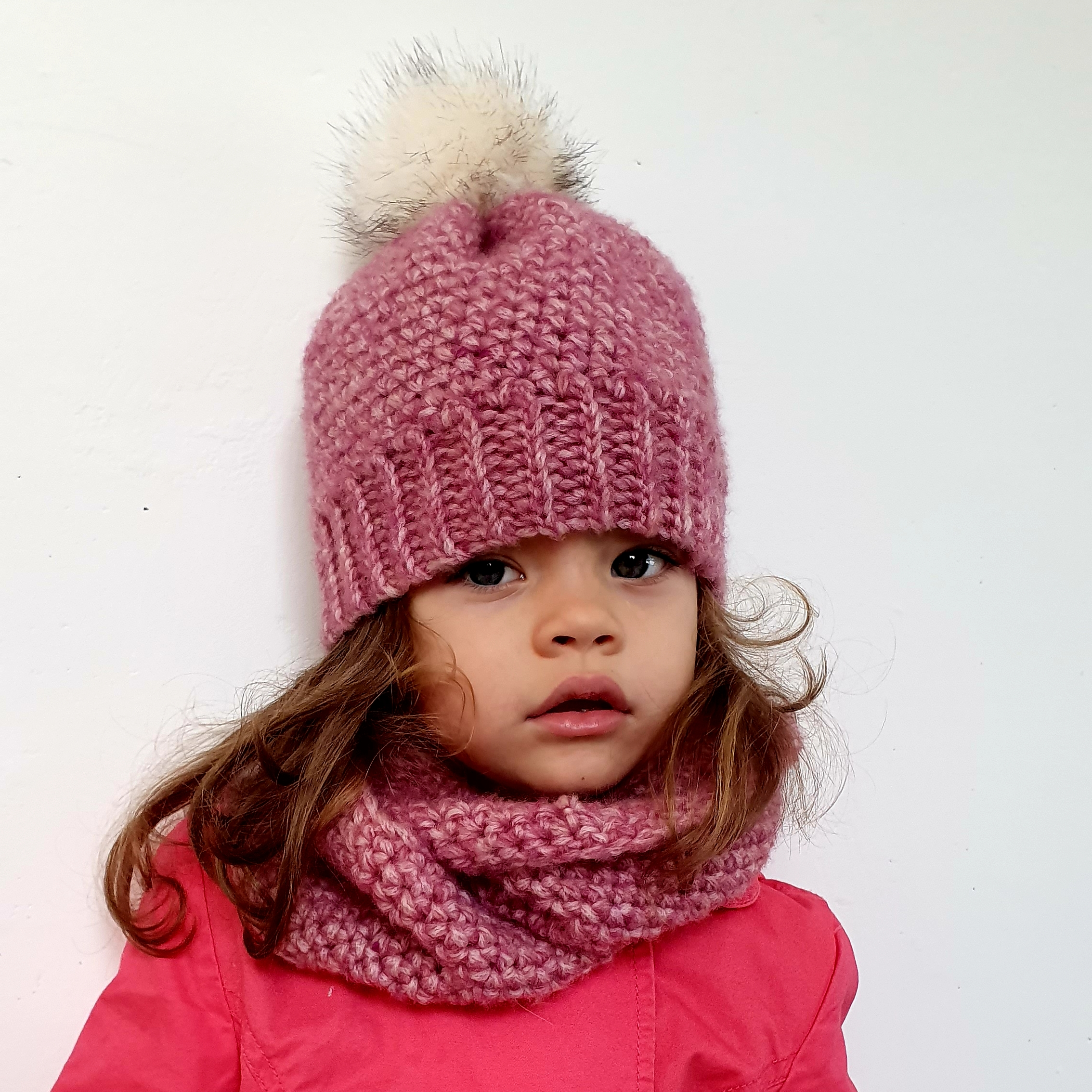 Winter Set with Beanie & Cowl Crochet Pattern