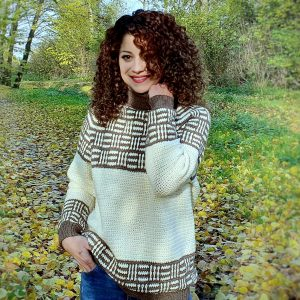 Plaid Love Sweater. Free Pattern & Video Tutorial