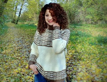 Plaid Love Sweater. Free Pattern & Video Tutorial