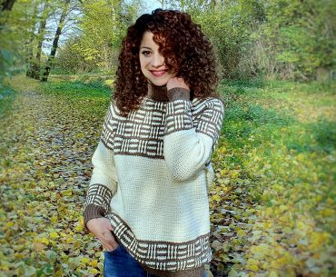Plaid Love Sweater Crochet Pattern