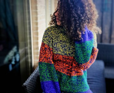 Left-Over Yarn Knitted Jumper