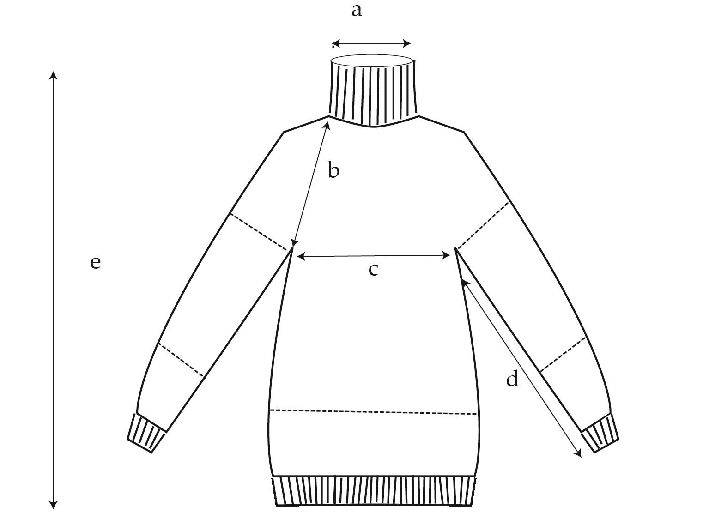 Plaid Love Sweater Diagram