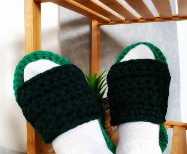 Slippers. Crochet pattern