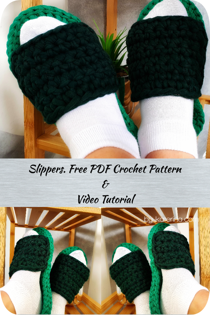 Learn how to crochet easy slippers