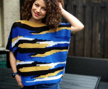 Dreamscape Tee. Crochet Pattern