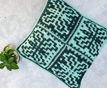 Butterfly Mosaic Pillow. Crochet Pattern