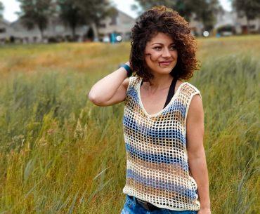 Rayas Top. Crochet pattern